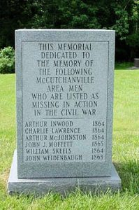McCutchanville Cemetery Civil War Memorial Stone